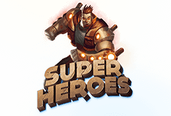 Play Super Heroes bitcoin slot for free